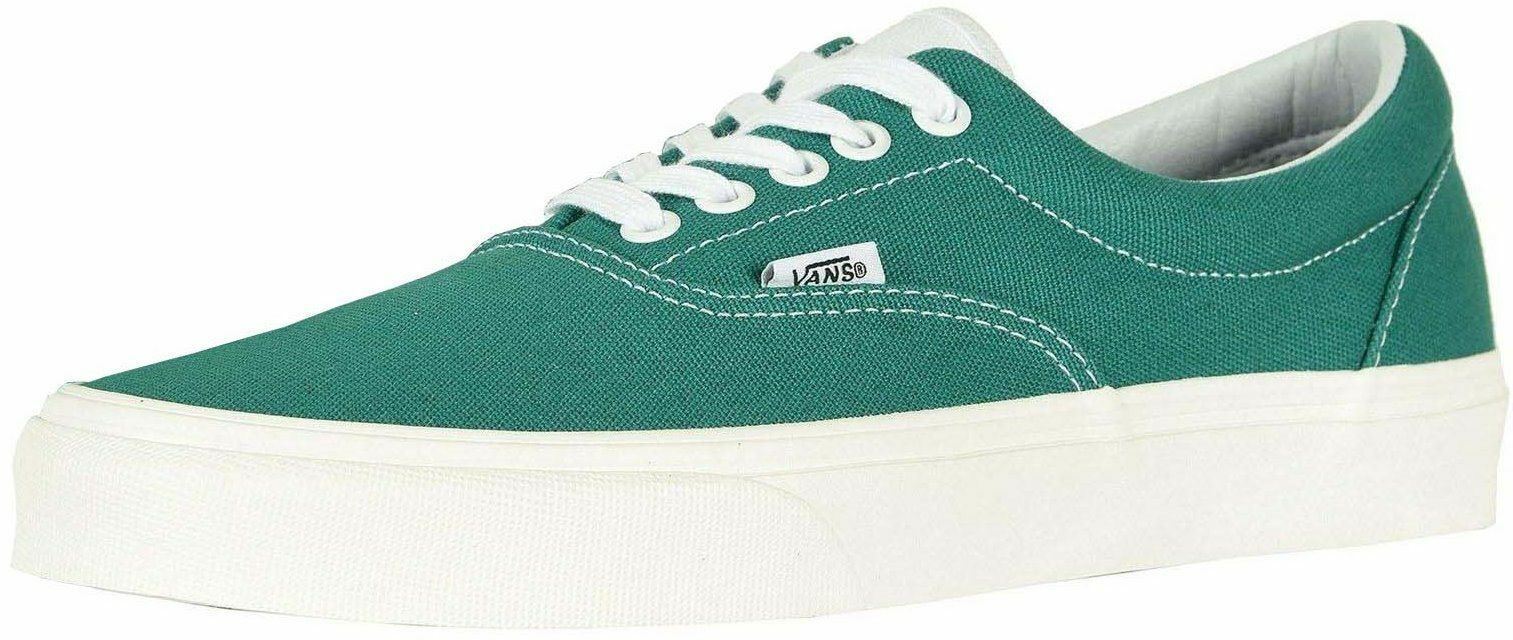 Vans Era Green blanc hommes Canvas Skate Trainers