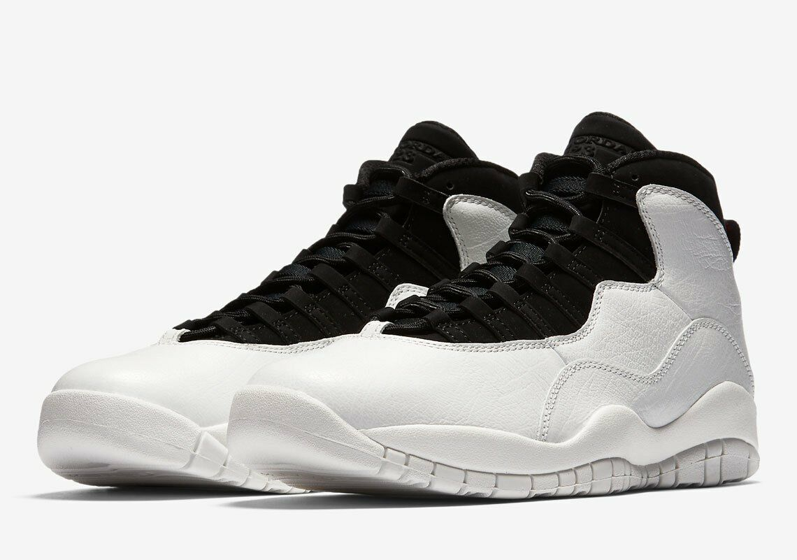 2018 Air Jordan Retro 10  I'M BACK   White Black 3100805-104 Sz 4Y-13