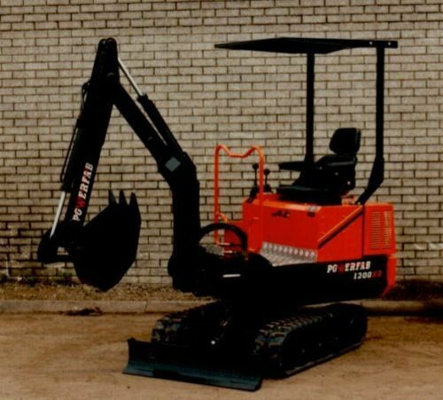 Powerfab DRAWINGS for TRACKED mini excavator digger backhoe