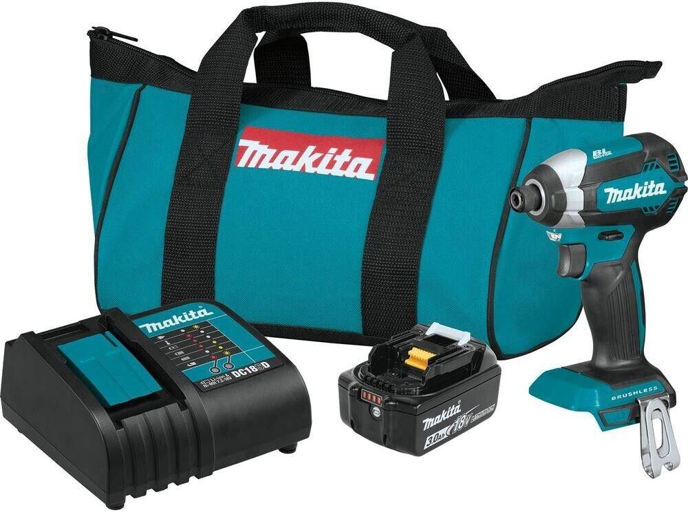 Makita Impact Driver Kit 18-V Li-Ion Brushless Cordless Powerful Lightweight New