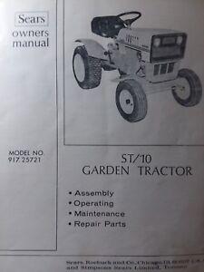 Sears Custom 10xl Tractor Wiring Diagram  1964 Sears