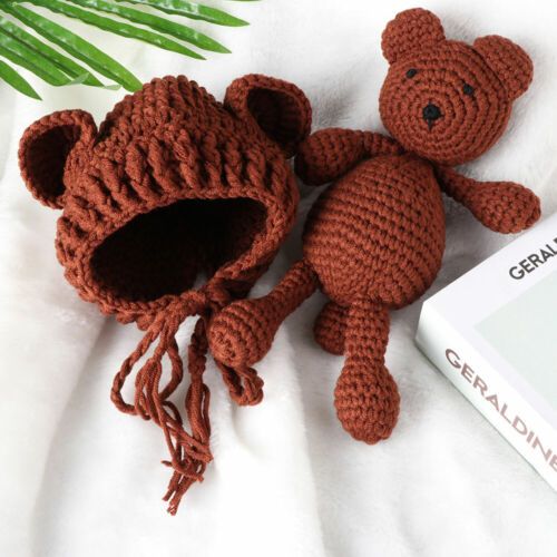 Photos Clothes Newborn Hats Bear Toy Baby Photo Props Suit Photography Props