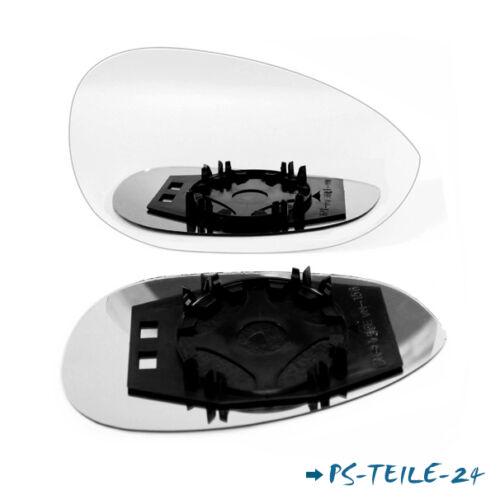 Spiegelglas für FIAT PUNTO EVO  2009-2014  rechts konvex mit Platte