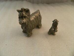 PEWTER Angel YORKIE Yorkshire Terrier Figurine Statue