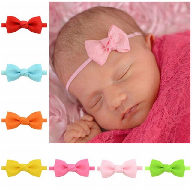 5pcs Mixed Bowknot Mini Headbands Baby Girl Hair Accessories Newborn Hair band*v