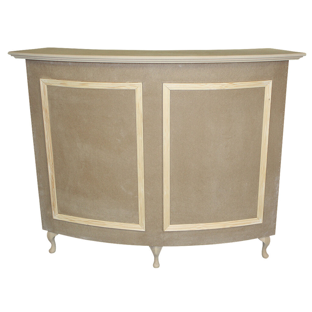 Curved reception desk cash desk french style shabby chic for Salon style shabby chic
