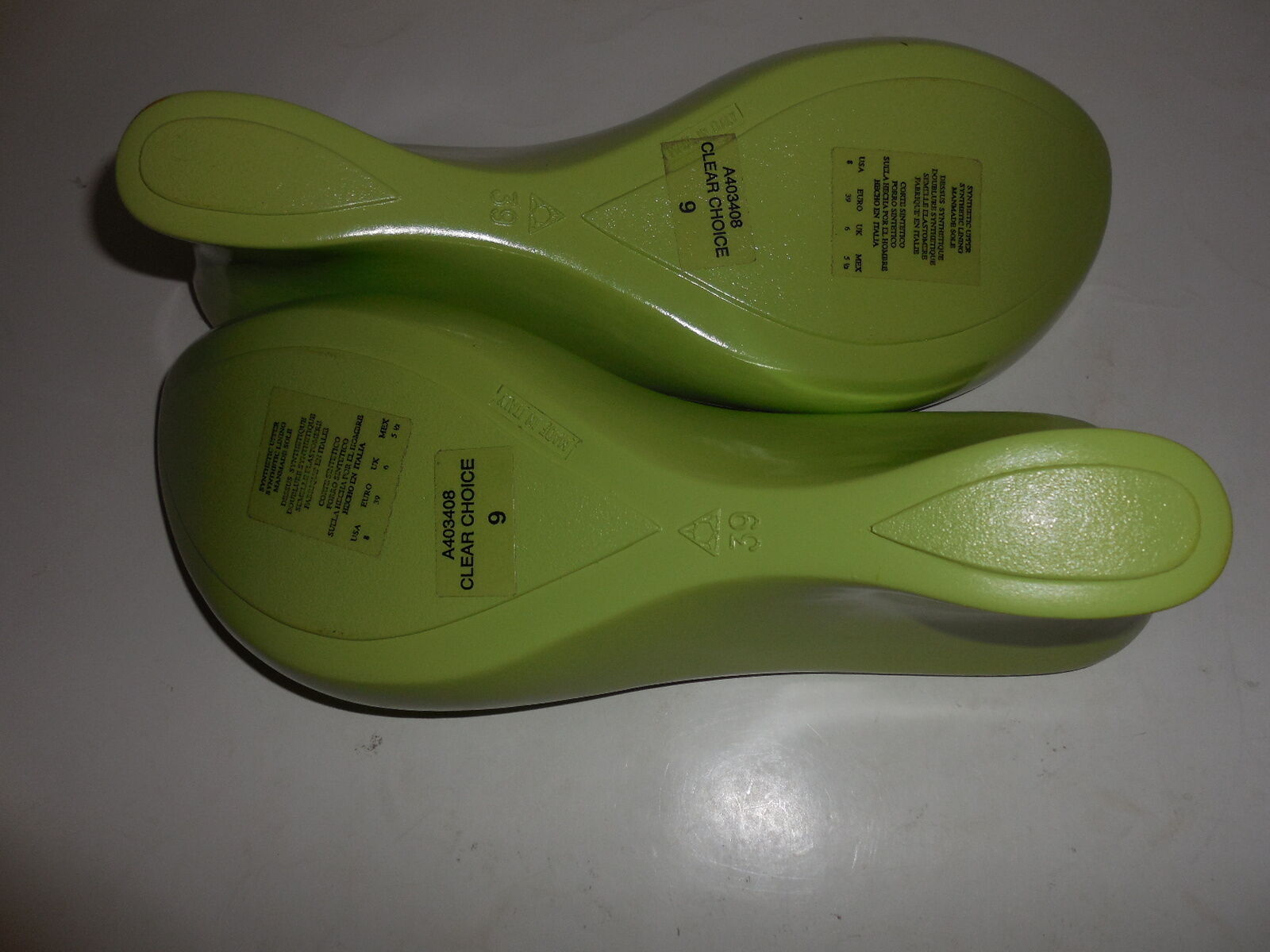 New Sz.39 Sz.39 Sz.39  9 Kenneth Cole Reaction  Wedges Platform Green Sandals(Made in ) 9ed758