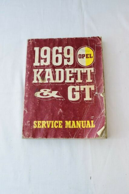 1969 Opel Kadett  U0026gt  Service Manual With Wiring Diagrams Gm