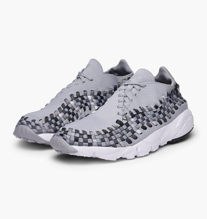 Nike Womens Air Force Footscape Woven Trainers Grey  (875797-004)