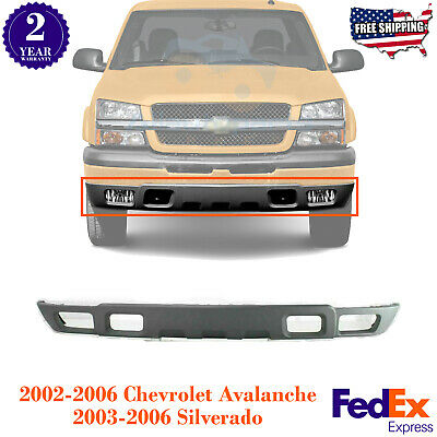 Front Bumper Lower Valance Air Deflector Textured For 2003 2006 Chevy Silverado Ebay