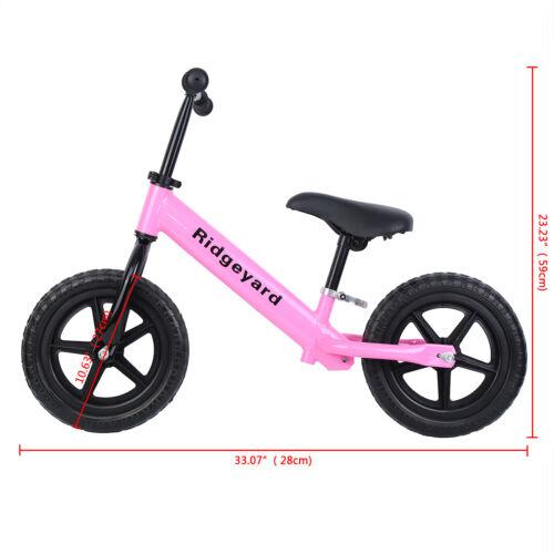 "Ridgeyard Unisex Kids 12/"" Balance Bike Classic No-Pedal Learn To Ride Pre Bike"
