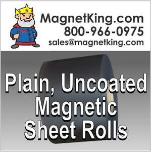 "Super Strong All Weather Magnetic Sheeting .060 Plain Uncoated Magnet 24"" x 10'"