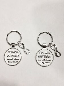 Infinity You Are My Person Will Always Be Best Friends Couples Keychain Set