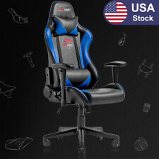 Racing Style Computer Gaming Chair Ergonomic Recliner Swivel Office Chairblue