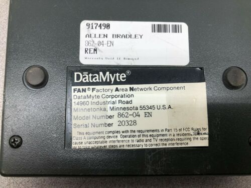 Details about  /USED DATAMYTE FAN FACTORY AREA NETWORK COMPONENT 862-04 EN