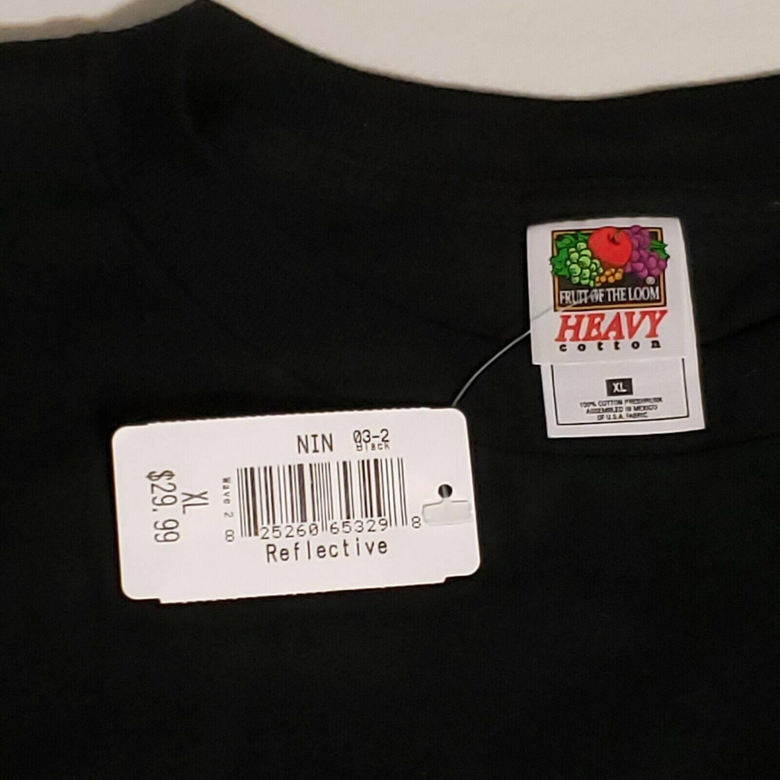 Vintage NIN Nine Inch Nail T Shirt XL Black Refle… - image 2