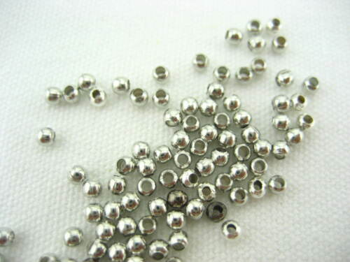 quality nickel metal Plated Spacer Beads for jewellery bracelet Round beads