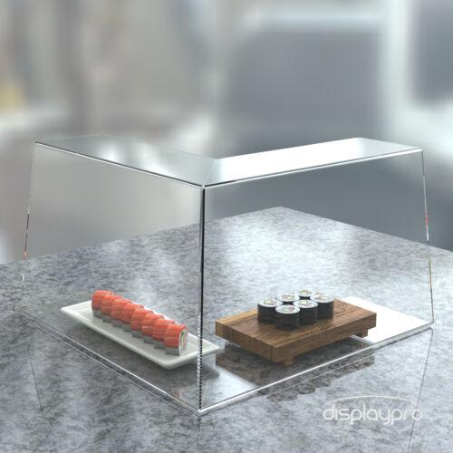 RIPARO anti-starnuti Protezione Dello Schermo Trasparenti Acrilico Perspex Cibo Torta Display Stand