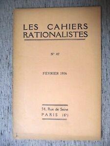 LES-CAHIERS-RATIONALISTES-N-47-1936-A-SAUVAGEOT-LOGIQUE-ET-SCIENCE-DU-LANGAGE