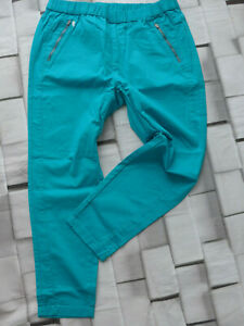 Sheego-Trousers-Jeggings-Pull-on-Stretch-Size-40-to-56-Turquoise-Tone-754
