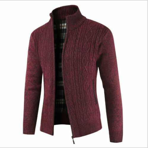 M-5XL Men Sweater Winter Coat Thicken Zipper Cardigan Knitwear Made In China