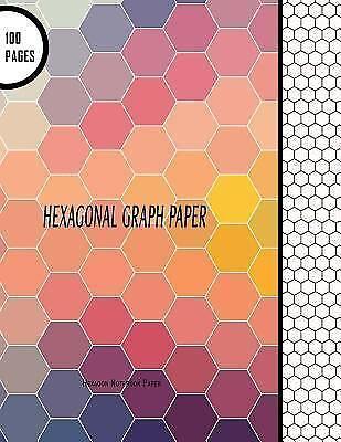 Hexagon Notebooks: Hexagonal Graph Paper: Hexagon Notebook Paper ...