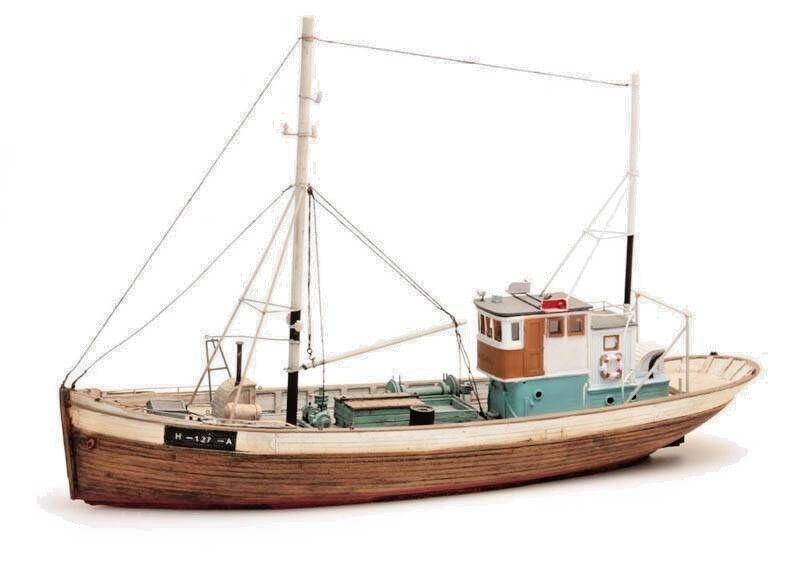Norwegisches FischerStiefel Art. Nr 50.107 Spur H0  | Charakteristisch