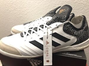 5f28a468f Adidas Copa Tango 18.1 IN Indoor Soccer White Black Gold CQ0132  160 ...