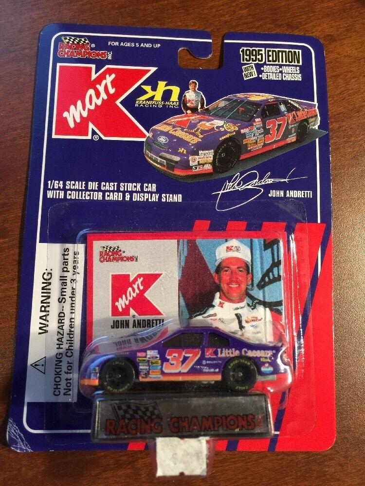 Racing Champions 1995 K-Mart Little Caesars John Andretti Car Card Display Stand