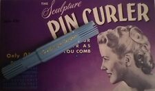 Sculpture Pin Curler single for making vintage 1940s-1950s pin curl hair styles