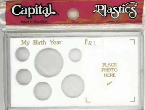 Large Dollar Meteor Capital Holder Birthday Birth Year Coin US Snaplock Cent