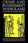 Crime and Punishment in England, 1100-1990: An Introductory History by Na Na (Paperback, 1996)