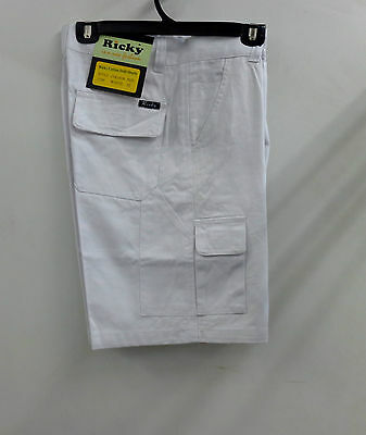 Cotton Drill Work Cargo Shorts 100% Pre-Shrunk Cotton Drill. 8-9 pockets
