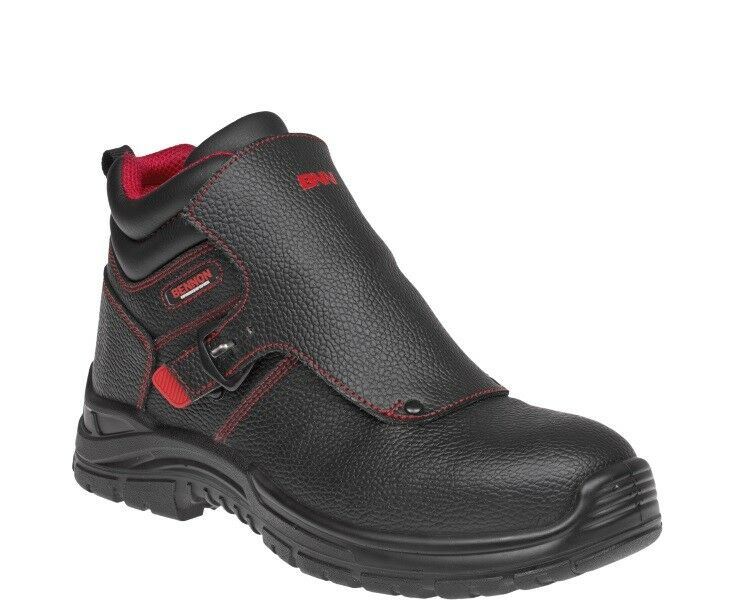 Mens BENNON WELDER S3 BLACK QUICK RELEASE safety WELDING boot