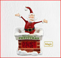2010 Hallmark Santa Digital Clock Countdown To Christmas Ornament Priority Ship