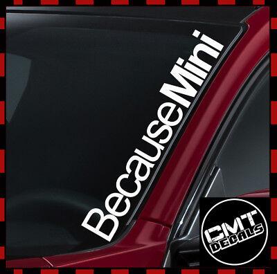 Ben Informato Perché Mini Parabrezza Auto/furgone Decalcomania Sticker Euro Cooper - 17 Colori 550mm-