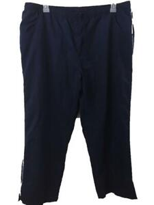 Athletech athletic pants size 2X blue mesh lined full length womens pockets NEW