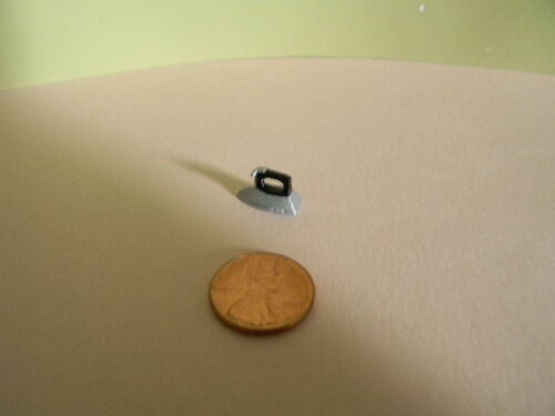 Miniature Iron with black handle in 1:12 Doll scale