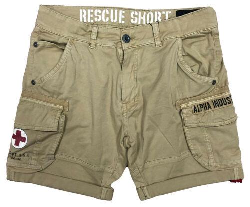 Alpha Industries Herren Short Rescue sand