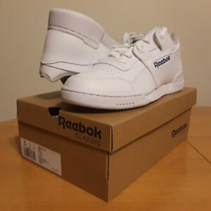 09bc396d238 NEW Men s Reebok Classic Leather Workout Plus White Royal Blue Model ...