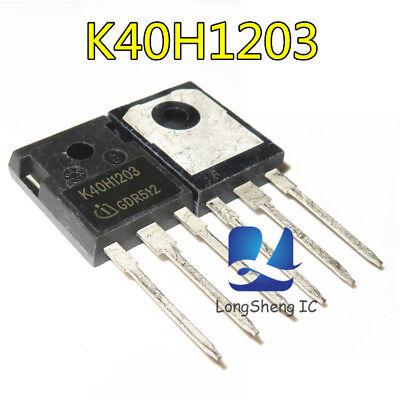 5Pcs Igbt Infineon IKW40N120H3 K40H1203 40A//1200V US Stock u