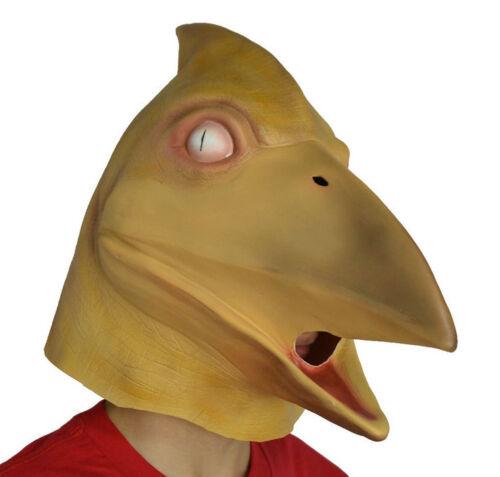 Ptérodactyle Masque Dinosaure Reptile Fancy Dress Jurassique Latex Tête Complète Oiseau