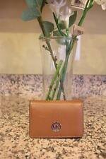 nwot Michael Kors leather brown Jet Set Travel Mini Wallet Credit Card Hold (PU6