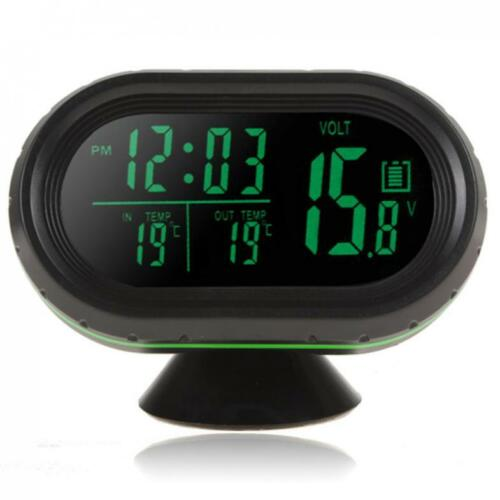 Car Auto Dashboard Digital LED Display Thermometer Voltage Meter Monitor Clock