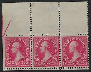 US Stamps-Scott # 267-Carmin-Comme neuf ORIGINAL GUM jamais à Charnière-neuf sans charnière (B-002)