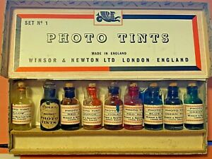 Photo-Tints-Winsor-amp-Newton-Complete-Set-of-No1-Collectors-Item-Vintage