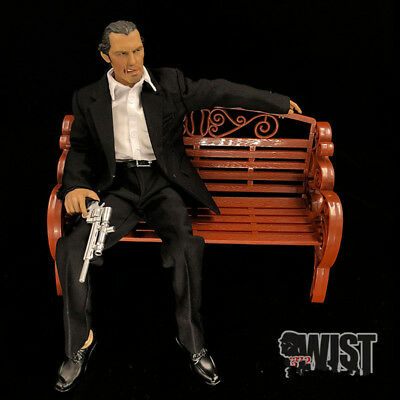 """1//6 Scale WWII Plastic Double Bench Chair Model For 12/"""" Action Figures"""