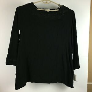 Style-amp-Co-Womens-Black-Top-Pullover-Shirt-Size-XL-NWT