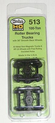 Kadee HO scale #515 ~ Vulcan Double Truss Metal Sprung Trucks ~ RP-25 Wheels