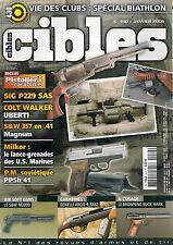 CIBLES N° 430--SIG P229 SAS/COLT WALKER/MILKOR LANCE GRENADES/PM SOVIETIQUE